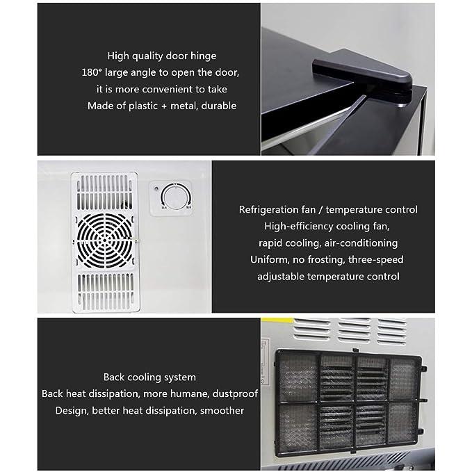 Dapang Mini refrigerador Frigorífico Puerta de Cristal de ...