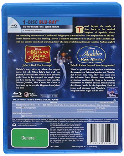 Aladdin and the King of Thieves / Return of Jafar [Blu-ray]