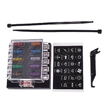 amazon com ueb fuse box holder terminal bar kit 10 way blade carueb fuse box holder terminal bar kit 10 way blade car ato atc van truck 6v