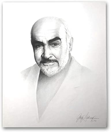Sean Connery 20x24 Lithograph By Artist Gary Saderup Signed Poster James Bond At Amazon S Entertainment Collectibles Store