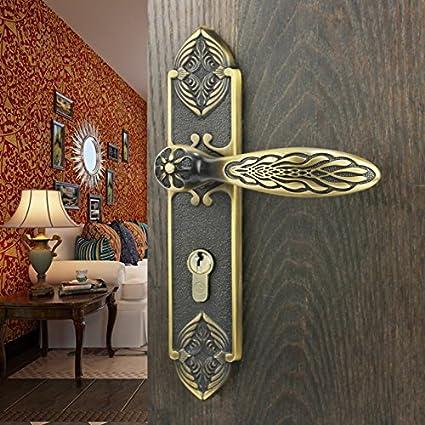 Comfy vida Cerradura para puerta de interior de cobre puro cobre todos Continental moderna casa puerta