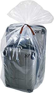 Wowfit 5 CT 40x60 inches Clear Giant Storage Bags Perfect for Dustproof, Moistureproof, Luggage, Suitcase, Comforter, Chair, Kids Bike and More (Include 5 Ties, XXL Bags are 2 Mil, Flat)