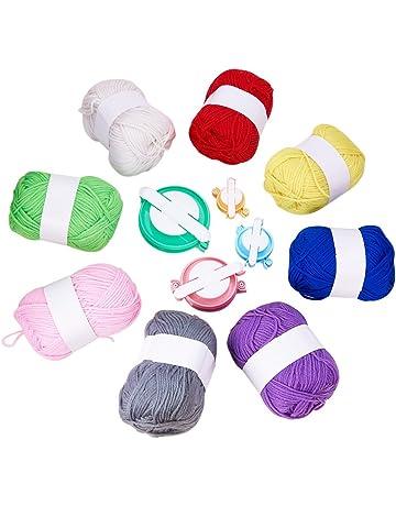 Pandahall Elite 8 rollos DIY Craft conjuntos, lana de punto con cable de pompones de