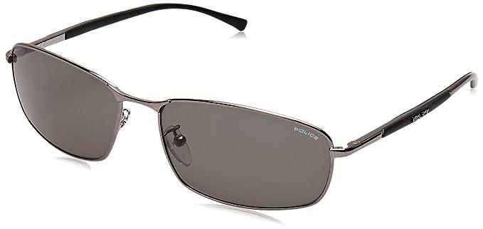 58fbf806b09 Police Men s S8650 rectangular Sunglasses