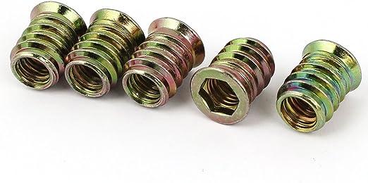 M8/x 15/mm muebles madera insertos roscados interfaz tornillos Hex Socket Tipo D-NUTS 15/pcs