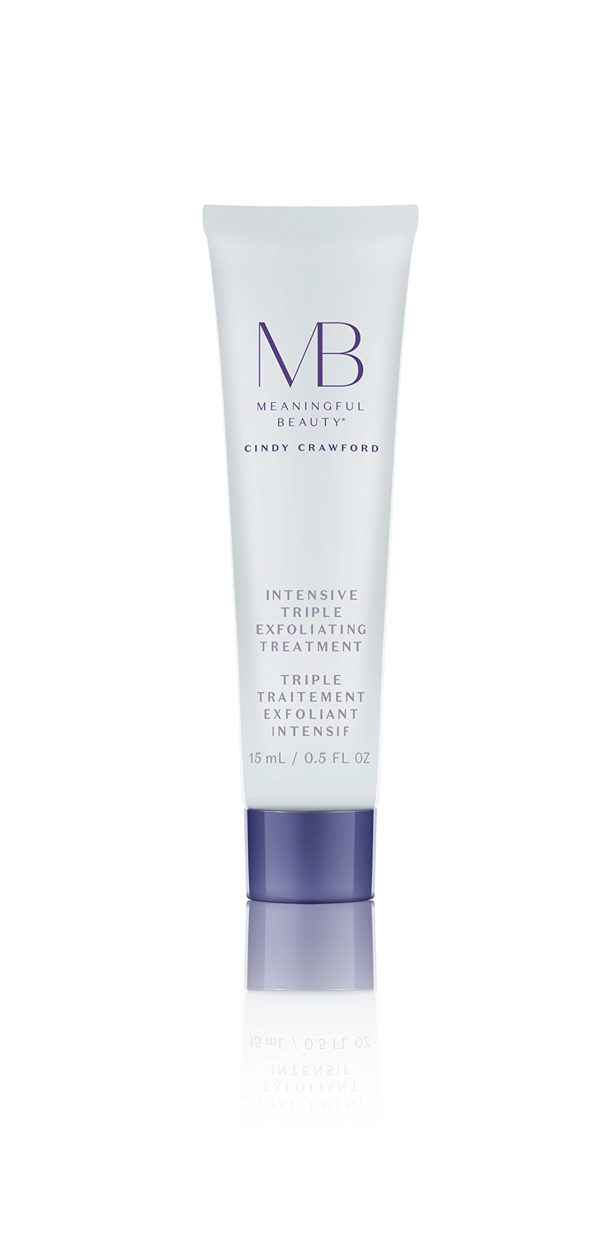 Meaningful Beauty Beyond - Intensive Triple Exfoliating Treatment - Infused with Papaya Enzymes, Glycolic Acid, Lactic Acid and Purifying Clay - Travel Size 30 Day Supply/0.5 Ounce - MT.2114