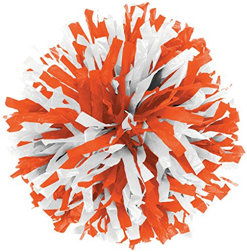 In-Stock Youth Cheerleading Pom Orange/Wht from Chassé