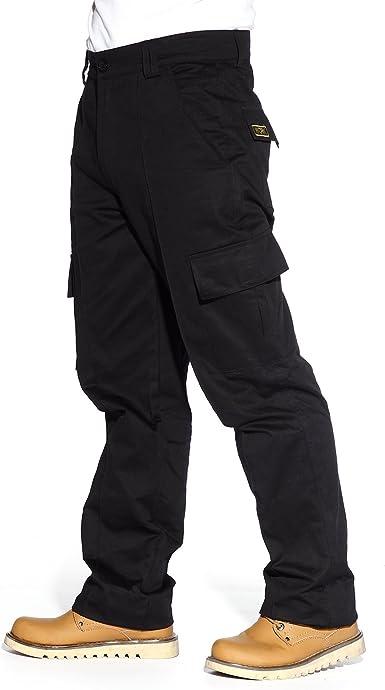Surepromise Pantalones Multibolsillos Cargo De Trabajo Para Hombre Color Negro Resistente 32 Amazon Es Ropa Y Accesorios