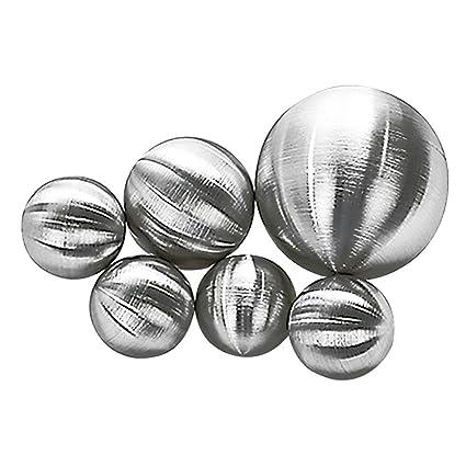 6x-Bolas de Acero Inoxidable Mate en caja de PVC Diámetro 4 ...