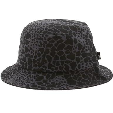 Amazon.com  HUF Men s Shell Shock Camo Bucket Hat Small Black  Clothing 9097573a722