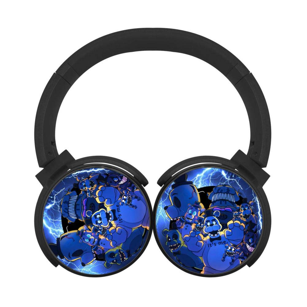 Five-Nights-at-Freddy FN-AF Wireless Headphones Bluetooth Over Ear Headphones Noise-canceling Earphone-Black