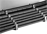 Corrugated Loom Tubing, Corrugated Tubing Inside Dia.: 3.444'', Black, Length: 98 ft.