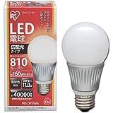 アイリスオーヤマ LED電球 60w相当 広配光 電球色 810lm LDA11L-G-V5  口金直径26mm