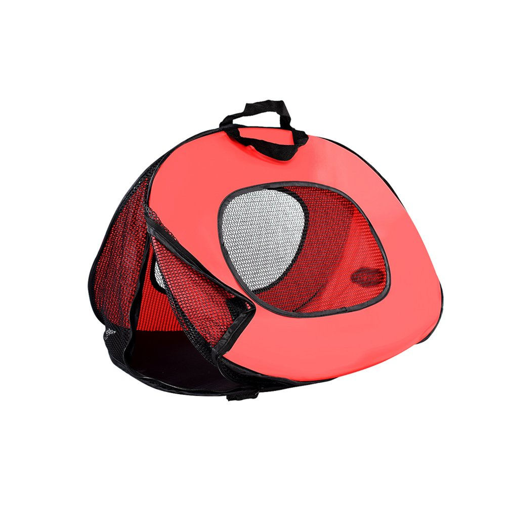 Red YQQ Pet Package Portable Dog Backpack Cat Pack Breathable Cat Cages Bag Cat Travel Bag Cat Tent Net Yarn (color   RED)
