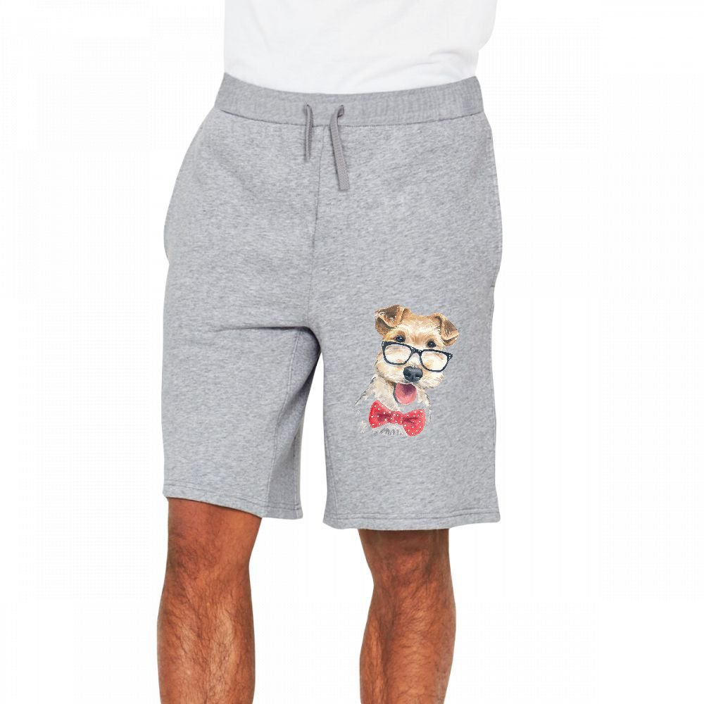WIONE Cool Dog/_19 Mens Casual Classic Short