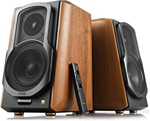 Edifier S1000MKII Audiophile Active Bookshelf 2.0 Speakers - 120w Speakers Bluetooth 5.0 with aptX HD - Optical Input - Powered Near-Field Monitor Speaker with Class D Amp