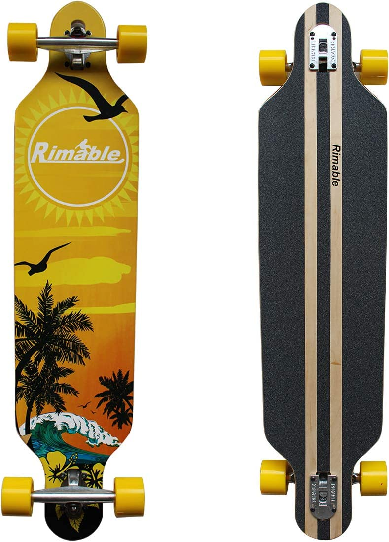 RIMABLE Drop-Through Longboard 41-inch