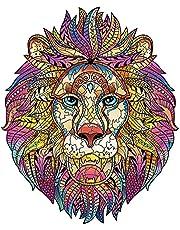 Cuteefun Houten Puzzel voor Volwassenen Unieke Vorm Dieren Puzzel Kleurrijke Leeuw Puzzel van 212 Stukjes voor Familie Geschenk