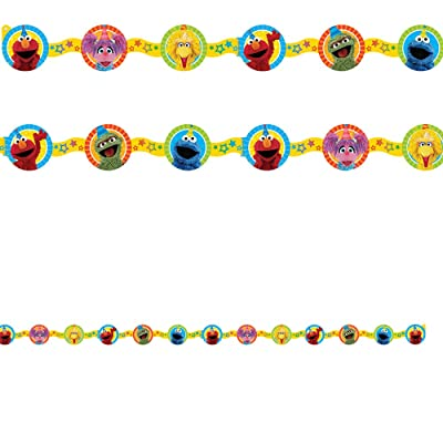 amscan Die-Cut Paper Garland, Sesame Street Collection, Party Accessory One Size, Multicolor: Toys & Games