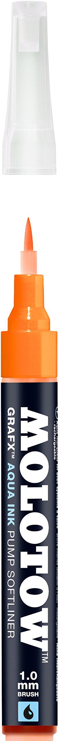 Molotow Grafx Aqua Ink Soft Liner Brush Pump Marker, Orange