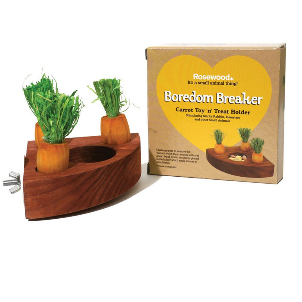 Carrot Toy And Feeder Treat Holder For Parrots Hamsters Squirrels And Small Animals By PetsMostHome