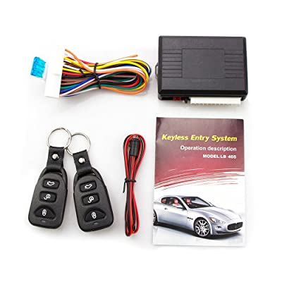 Eunavi Universal Car Vehicle Security Car Door Lock Keyless Entry System Remote Central Control Box Kit: Car Electronics