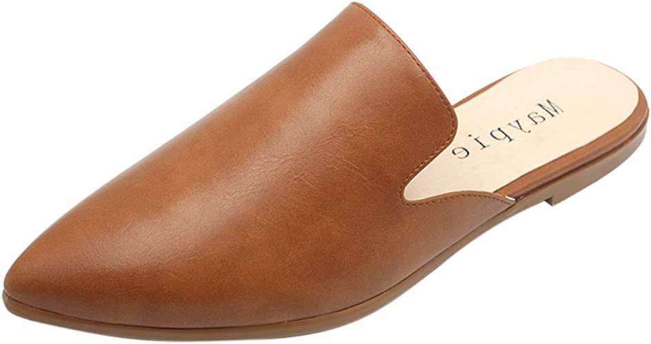 new release official shop excellent quality Amazon.com   MAYPIE Womens Flat Mules Closed Pointed Toe Slip On ...