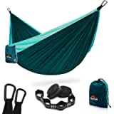 AnorTrek Camping Hammock, Super Lightweight Portable Parachute Hammock with Two Tree Straps (Each 5+1 Loops), Single…