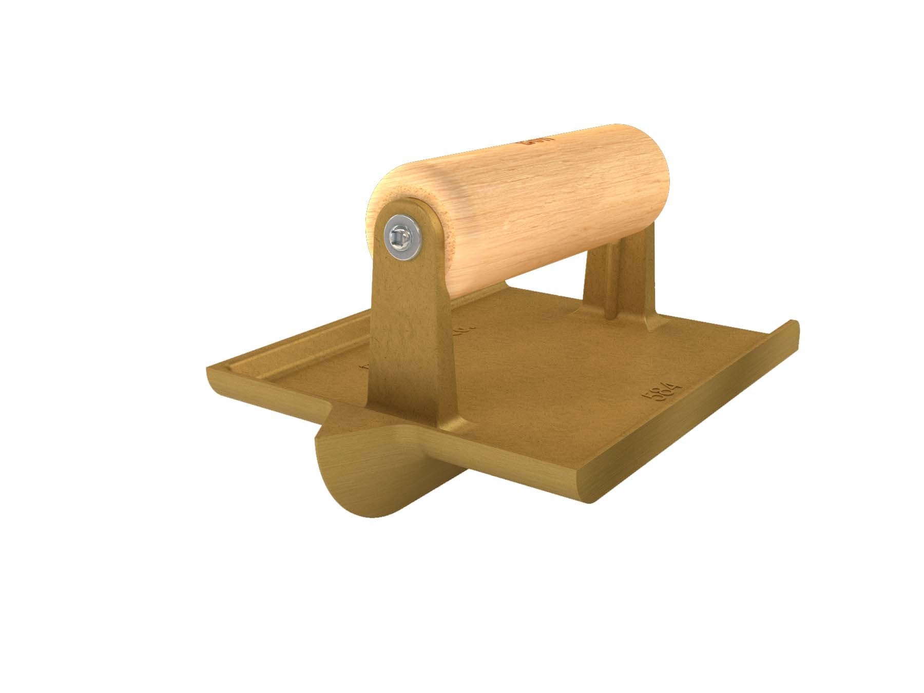 Bon 12-584 6-Inch by 4-1/2-Inch Bronze Hand Concrete Groover with 3/4-Inch Depth by 7/8-Inch Width Bit Wood Handle