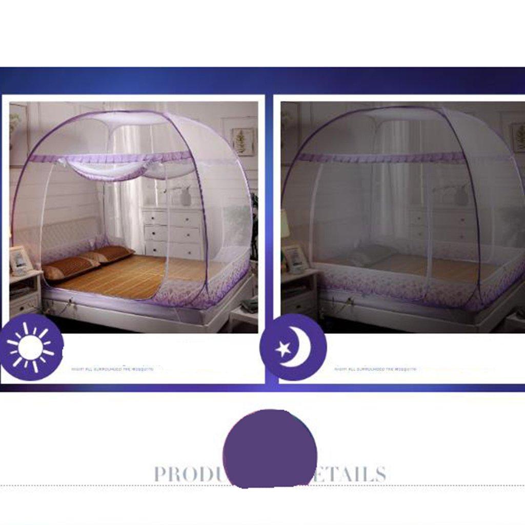 XINGQIANRU Mongolian Jurte Net Faltende Installation Freie Installation Faltende Automatische Dreitürige Offene Moskitonetze 1.5 1.8M Meter Bett Nach Hause 591c53