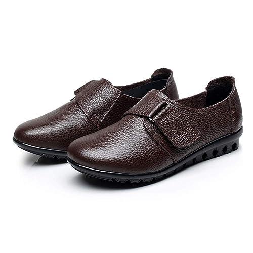 Mocasines De Mujer Zapatos De Cuero De Vaca Pisos De Corte Bajo Casual con Cordones Damas con Fondo Blando SóLido Oxfords: Amazon.es: Zapatos y complementos