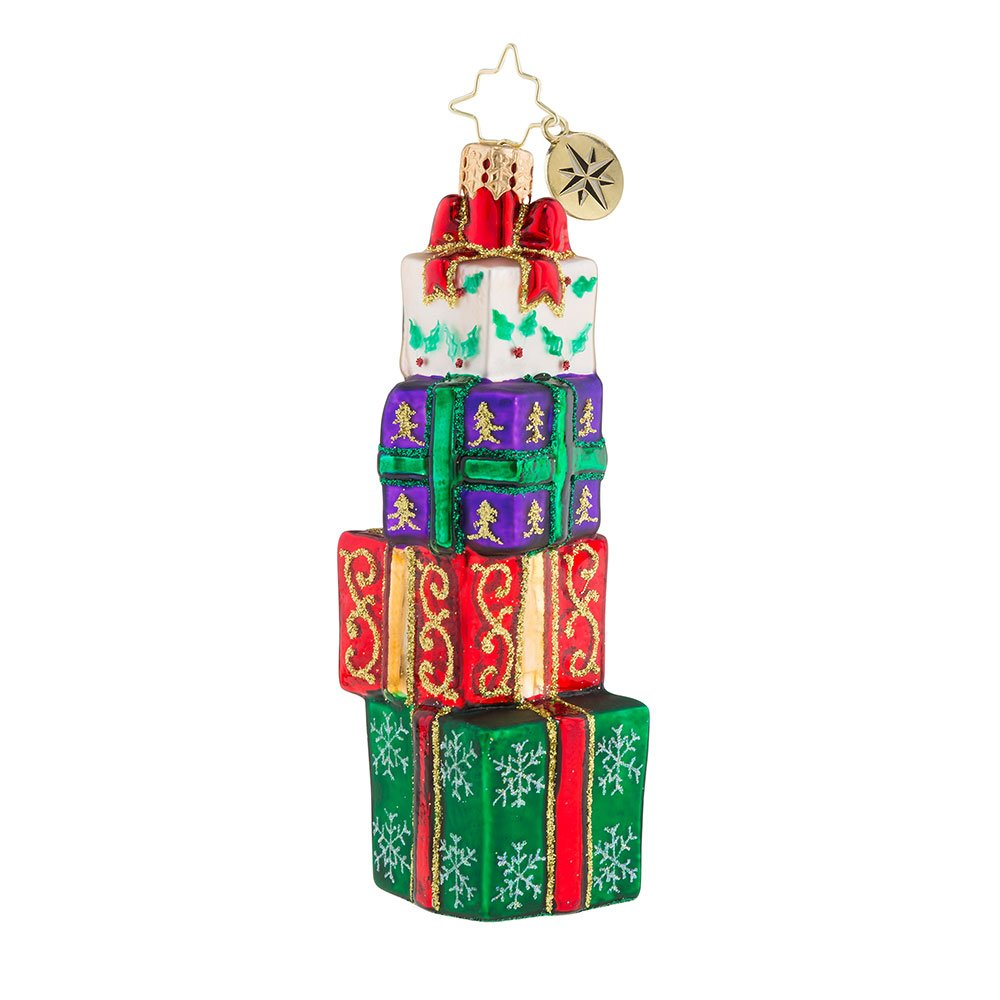 Christopher Radko Stunning Stack Of Wrap! Christmas Ornament