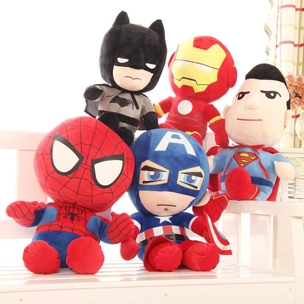 MSTQ Simulation Avengers Doll Spider-Man Plush Toys Captain America Superman Ragdoll (Five-Piece Suit) (37.4 in, Five-Piece Suits) by MSTQ