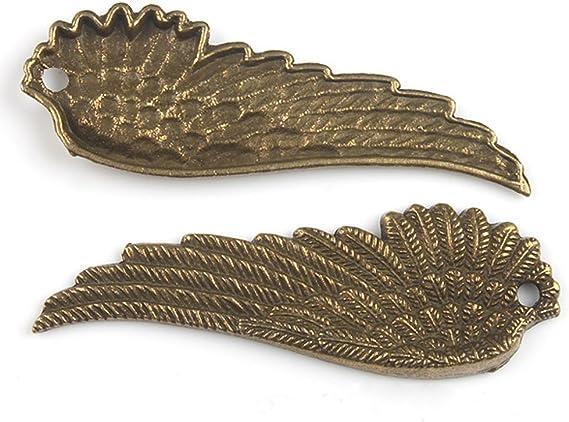 6pcs antiqued bornze color wings design pendant charm G1824