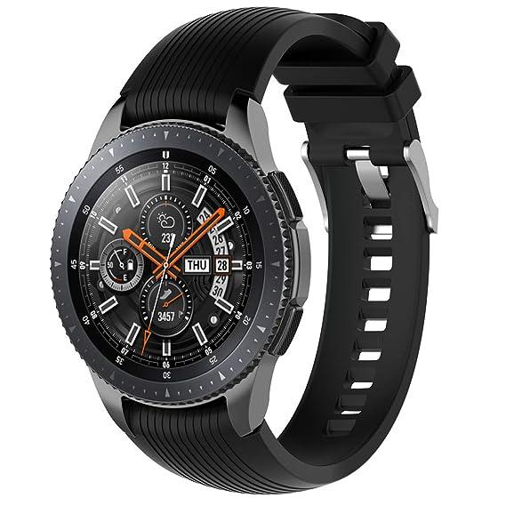 Amazon.com: MOTONG 22mm Galaxy Watch 46mm Straight Stripe ...