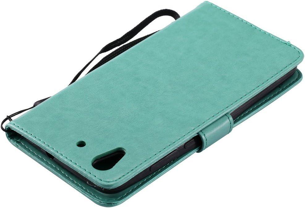 Grabado en relieve 5.0 C Cuero Pu y FQY-TEC Rojo Cartera,Ranura para tarjeta,Soporte Funda para Huawei Honor 5A // Y6II TPU Huawei Honor 5A Funda // Y6II Funda // Y6 2 Funda,