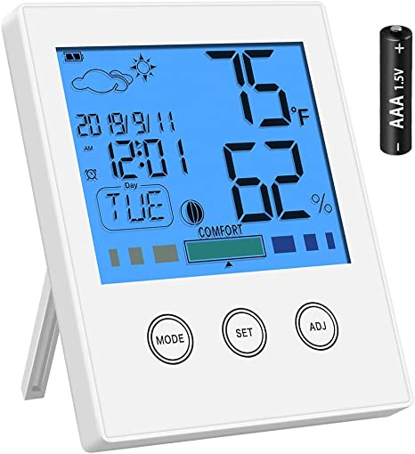 Nursery Baby House Room Mini Thermometer Wet Hygrometer Temperature Meter UP