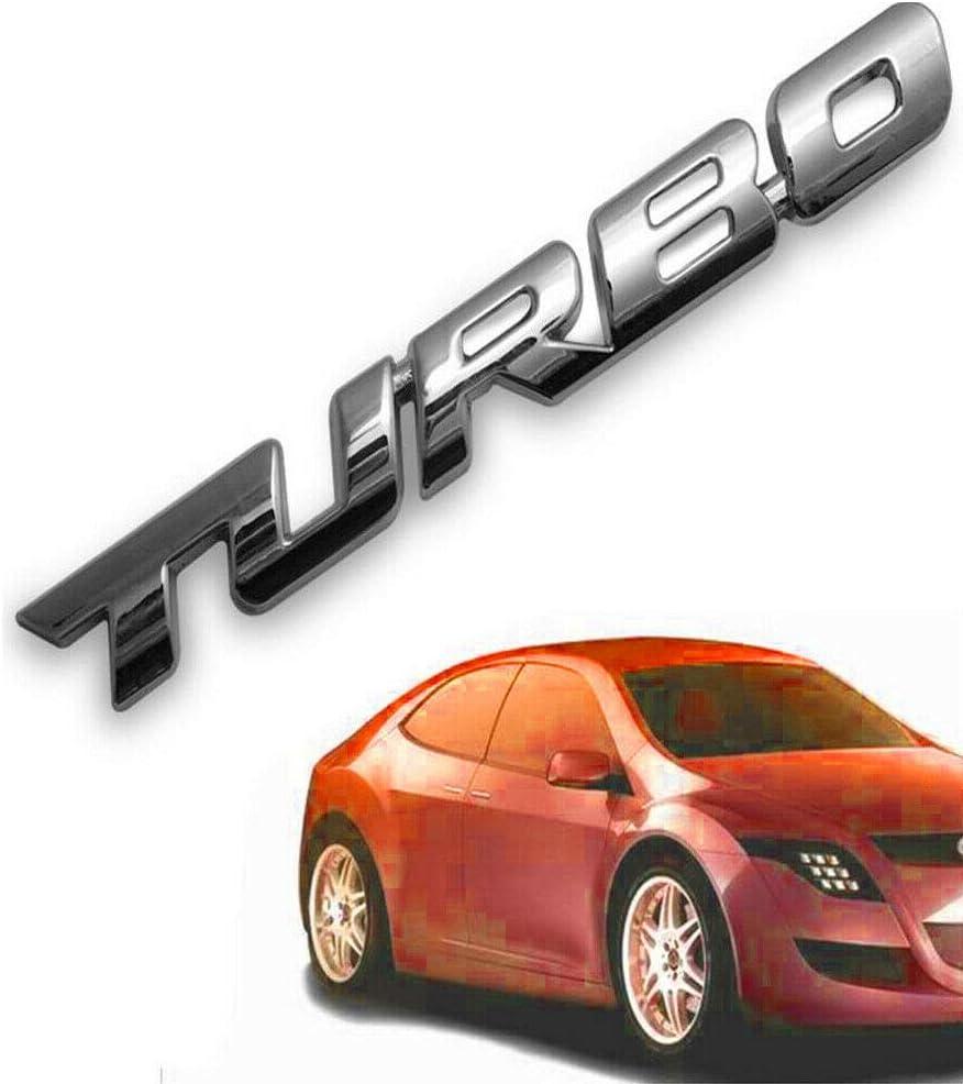 Adesivo 3D per auto in metallo Turbo per stemma posteriore per piattaforma posteriore AKDSteel