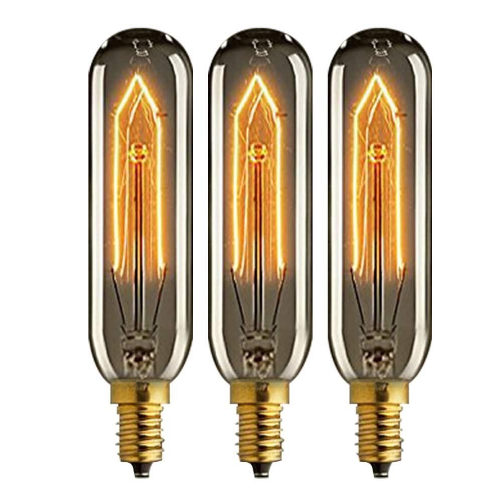 KJLARS Vintage Edison T10 tubo E14 40W bombilla droplight creativo luz decorativa que restaura maneras antiguas