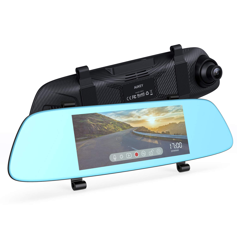 AUKEY Dash Cam a Specchietto Touchscreen LCD 6.8