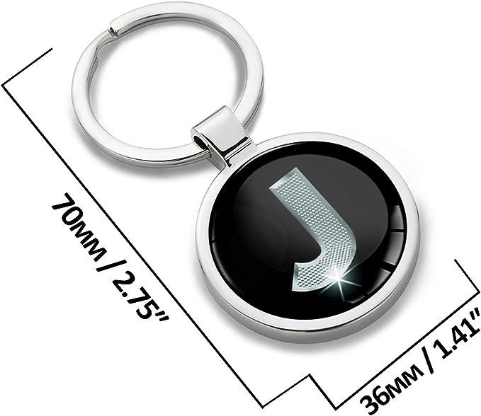 Letras del Alfabeto A-Z para Hombres y Mujeres Biomar Labs/® KK 59 Color Dorado Llavero con Iniciales Personalizables en 3D Regalo de Letra G