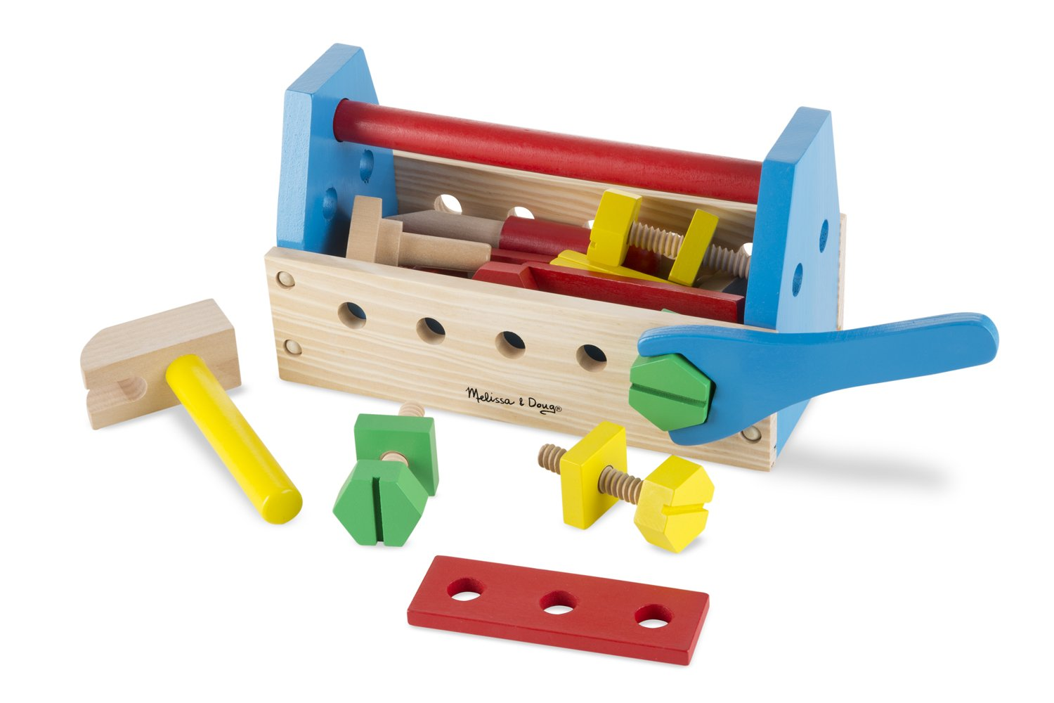 Melissa and Doug Wooden Take Along Tool Kit (24 Pieces)