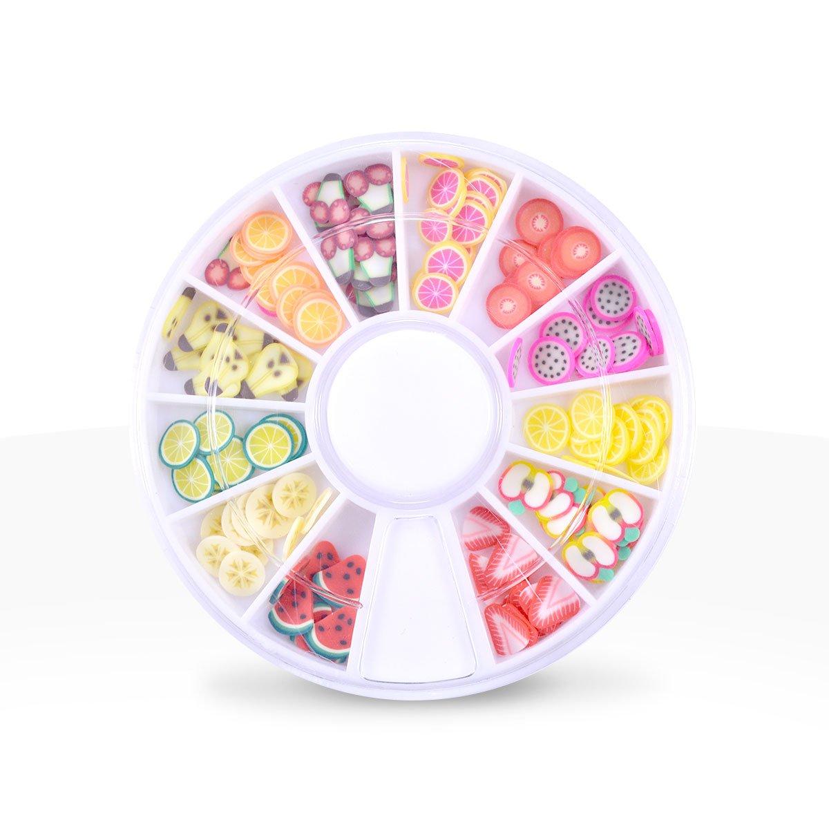 Ocibel - Carrousel Déco Fimo Fruit Nail Art - Manucure, Faux Ongles et Nail Art