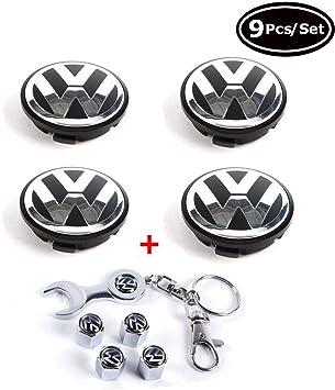 Amazon.com: Toolacc - Juego de 4 tapacubos para Volkswagen ...
