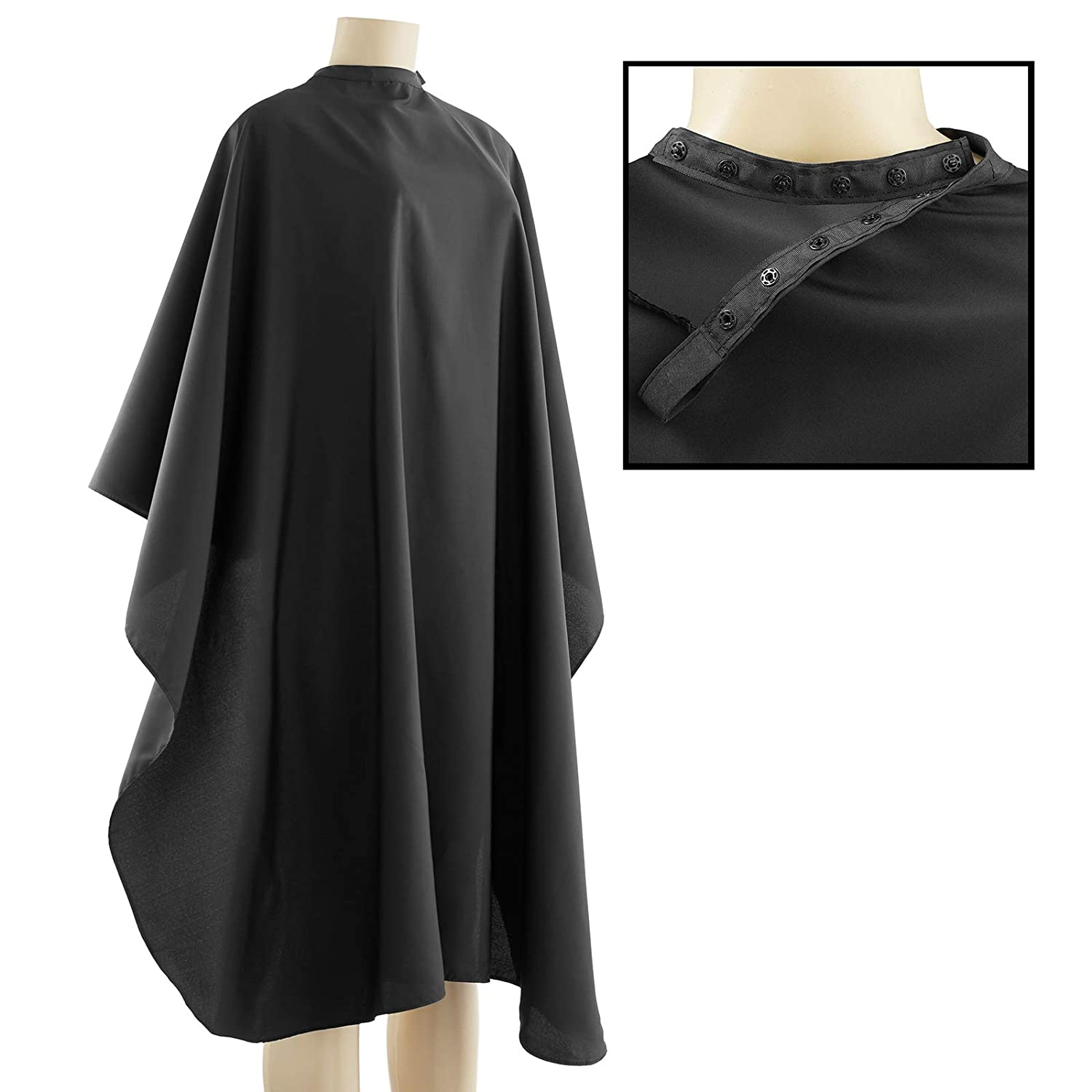 Salon Sundry Professional Hair Salon Nylon Cape w/Snap Closure - 50 in. x 60 in. : Hair Styling Products : Beauty