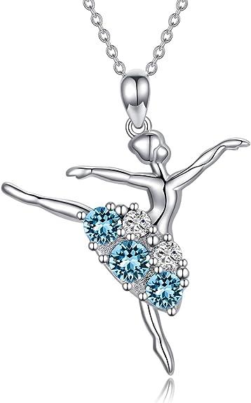 Silver Ballerina Necklace