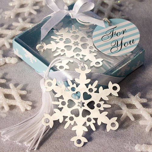 Snowflake Bookmark Wedding Favors: Perfect Winter Favors, -