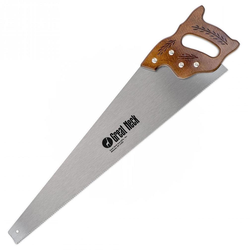 GreatNeck N2610-26 Inch 10 TPI Cross Cut Hand Saw - Hardwood Handle