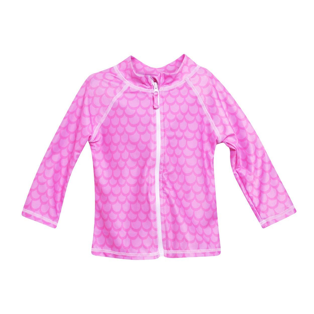 Flap Happy Girls Toddler UPF 50 Zip Front Swim Jacket