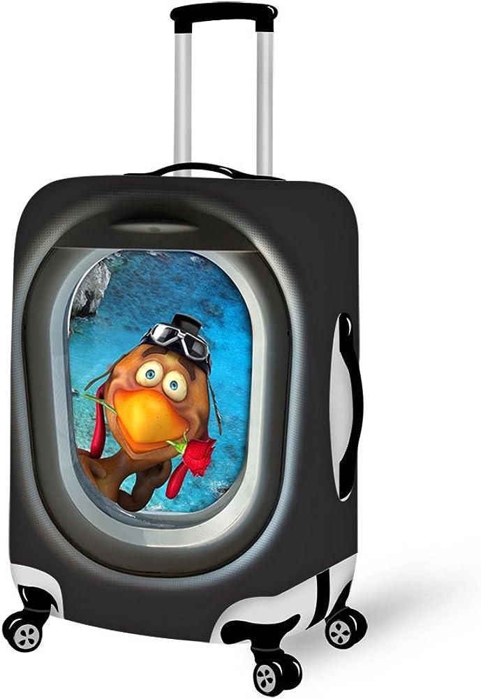 HUGSIDEA Funny Cartoon Animals Print Elastic Luggage Cover Protector with Zipper
